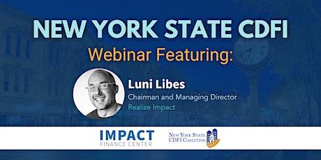 New York State CDFI Investor Club Webinar tickets