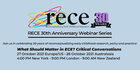 What should matter in Early Childhood Care and Education? tickets