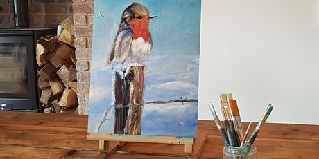 'Robin'  Christmas painting workshop & Afternoon T tickets