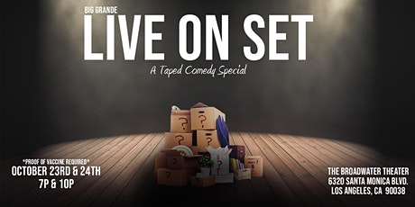 Big Grande Live on Set: A Taped Comedy Special tickets