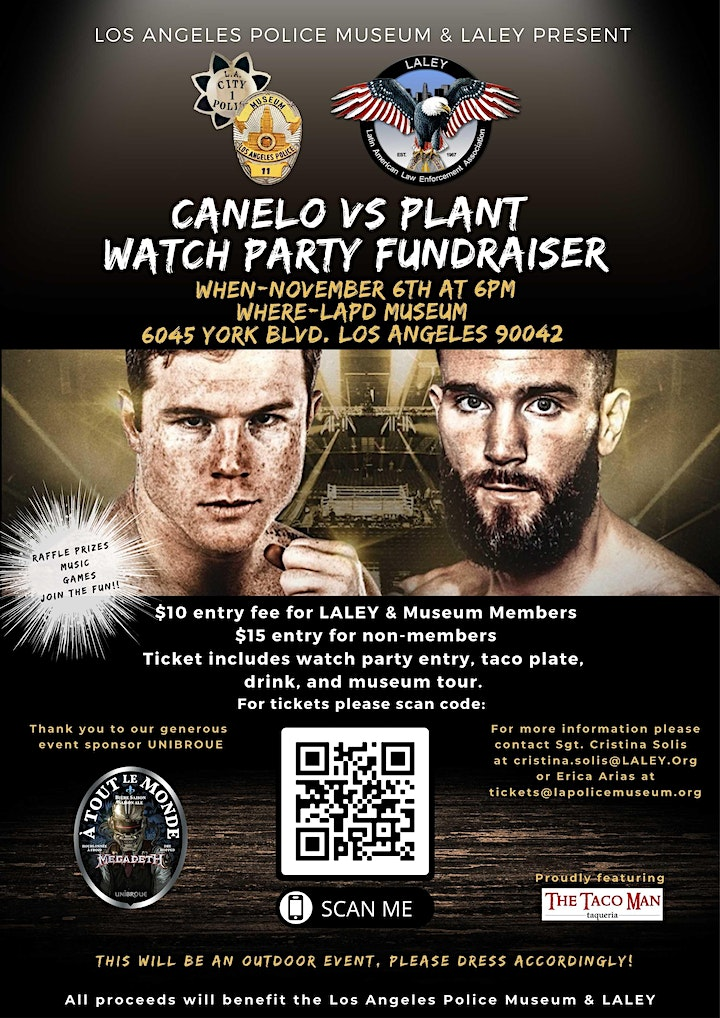 Canelo vs. Plant Watch Party Fundraiser image