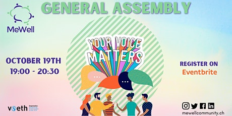 MeWell General Assembly Tickets