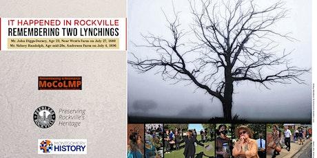 It Happened in Rockville: Remembering Two Lynchings tickets