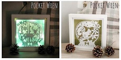 Light Up Papercut Snow Globe Frame - Paper Cutting Workshop tickets