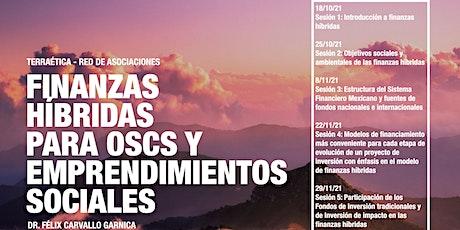 Finanzas hibridas como mecanismo de fondeo para los programas de las OSC boletos
