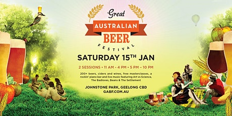 Great Australian Beer Festival Geelong 2022 tickets