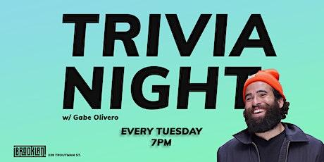 Trivia Night @ BrookLAN. With host, Gabe Olivero tickets