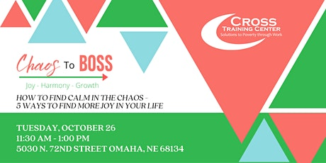 How to go from Chaos to Boss – Lunch & Learn and Personal Hygiene Drive tickets
