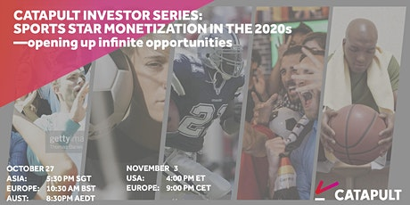 Catapult Investor Series: Sports star monetization in the 2020s tickets