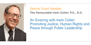 Jeanne Sauvé Forum: An Evening with Irwin Cotler --...