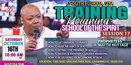 REGISTER NOW..FOR THE HIGHLY ANTICIPATED TRAINING FOR REIGNING SESSION 17!! tickets