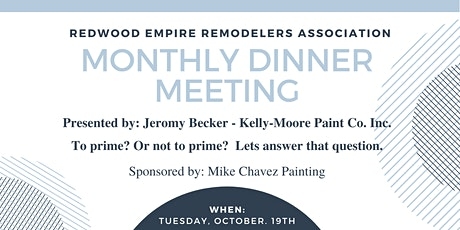 October Dinner Meeting | To prime? Or not to prime? tickets