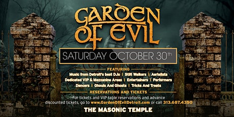 Garden Of Evil on Saturday, October 30th at The Masonic Temple! tickets