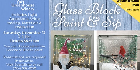 Glass Block Paint and Sip! tickets