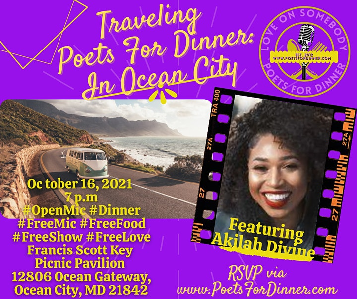 Traveling Poets For Dinner  in Ocean City Featuring Akilah Divine image