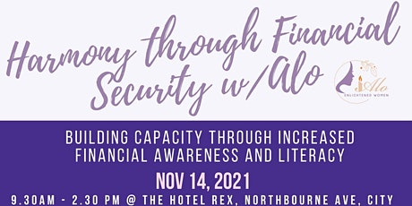 Harmony through Financial Security Workshop tickets