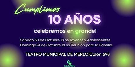 10 Aniversario  DOMINGO 31/10 18HS tickets