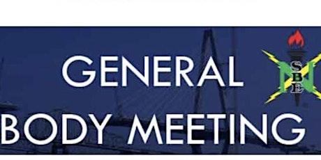 October 2021 General Body Meeting tickets