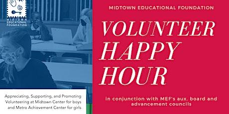 MEF Volunteer Happy Hour tickets