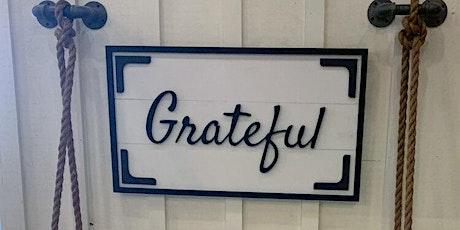 Chalk Paint Workshop - Paint Your Very Own Grateful Plaque! tickets