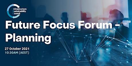 Future Focus Forum - Planning tickets