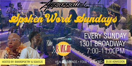 Spoken Word Sundays @ Apparallel (Downtown Detroit) tickets