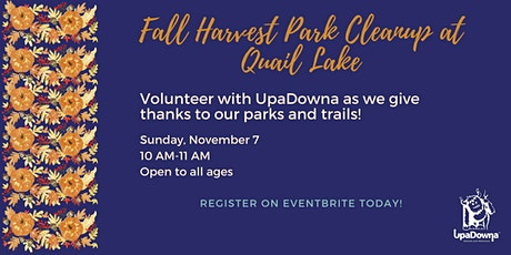 Fall Harvest Park Cleanup at Quail Lake tickets