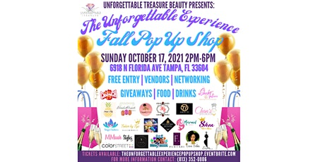THE UNFORGETTABLE EXPERIENCE: FALL POP UP SHOP tickets