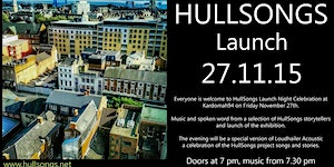 HullSongs Launch Night