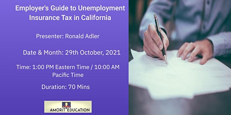 Employer's Guide to Unemployment Insurance Tax in California tickets