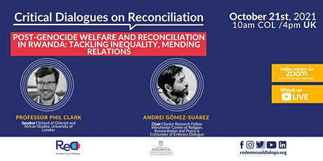 Post-Genocide Welfare and Reconciliation in Rwanda tickets