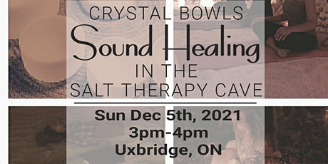 Crystal Bowls Sound Healing in the Salt Therapy Cave tickets