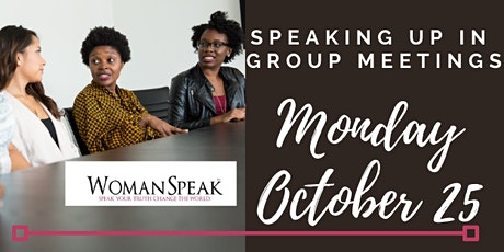 Speaking Up in Group Meetings tickets