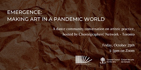 EMERGENCE: Making Art in a Pandemic World tickets