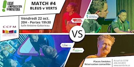 Match #4 de la LIM - Bleus v Verts tickets