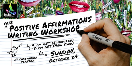 Positive Affirmations Writing Workshop tickets