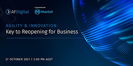 AGILITY & INNOVATION: Key to Reopening for Business tickets