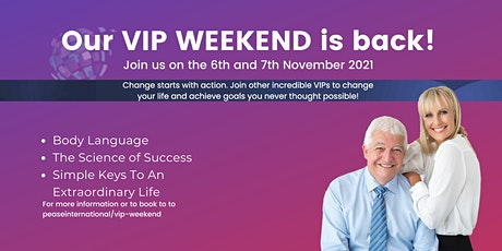 VIP Weekend 2021 with Allan and Barbara Pease tickets