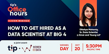How to get hired as a Data Scientist at a Big 4 tickets