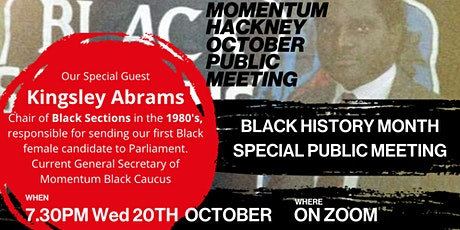 Public Meeting with Kingsley Abrams of Black Sections tickets