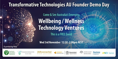 Transformative Technologies AU Founder Demo Day tickets