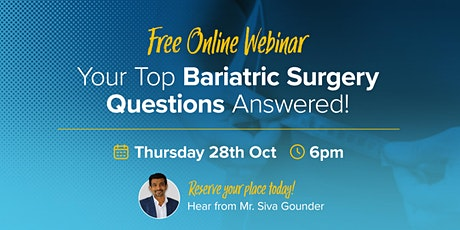 Your Top Bariatric Surgery FAQ's Answered!  Presented by Perth Weight Loss tickets