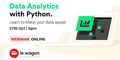[FREE WEBINAR] - Data Analytics With Python tickets