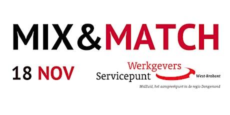 MIX&MATCH voor werkzoekenden tickets