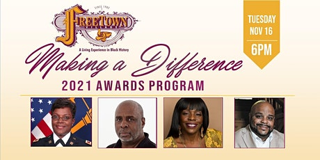 """2021 Freetown Village 8th Annual """"Making a Difference"""" Awards Program tickets"""