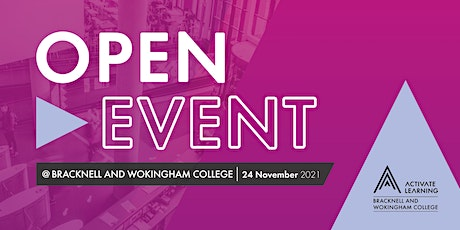 Bracknell and Wokingham College November Open Event tickets