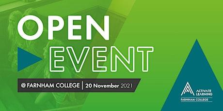 Farnham College November Open Event tickets