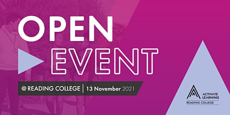 Reading College November Open Event tickets