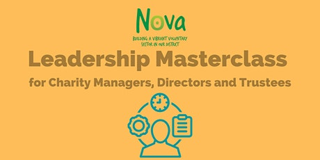 Leadership Masterclass for Charity Managers, Directors and Trustees tickets