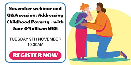 Free Parenta Webinar: Addressing Childhood Poverty with June O'Sullivan MBE tickets